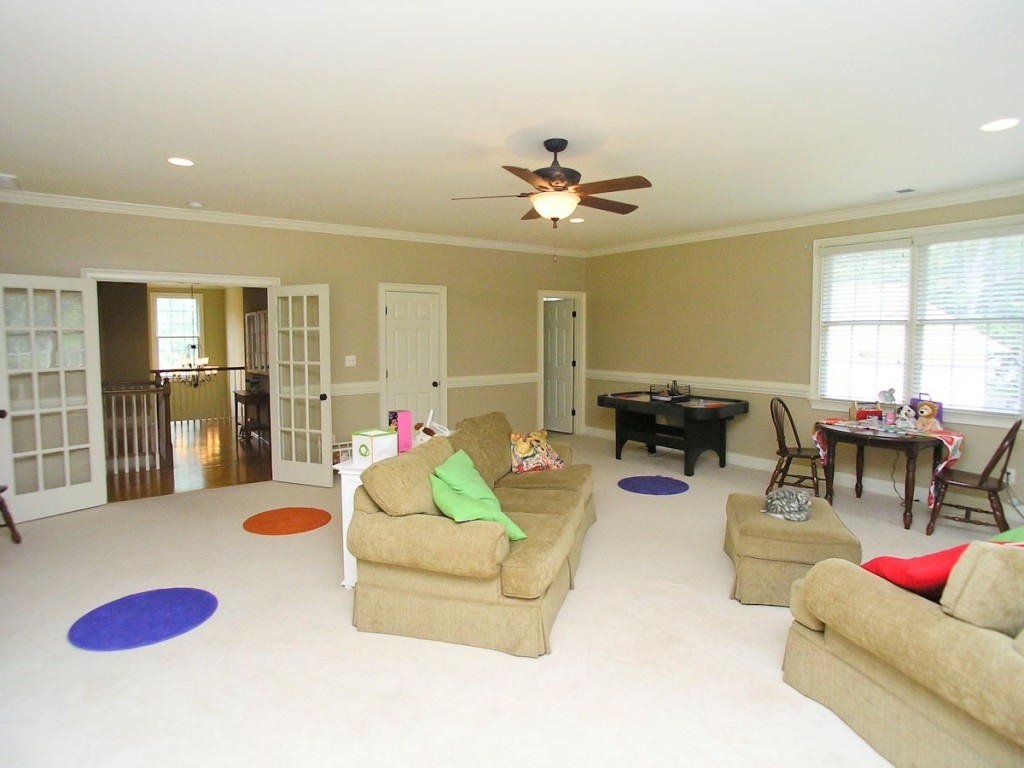 Playroom Towards French Doors